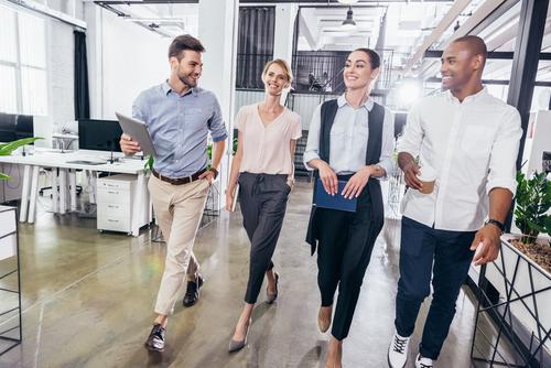 Walking in the Office