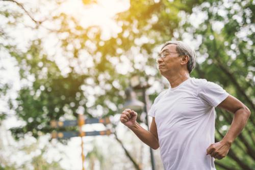 Older jogger