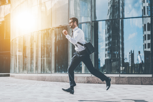 Worker running to get more steps