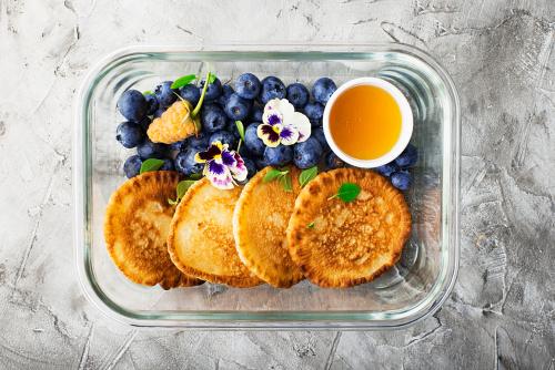Light healthy prepped breakfast