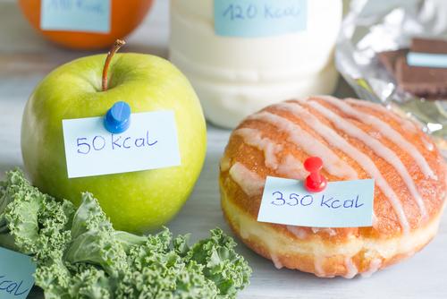 Healthy apple vs unhealthy donut