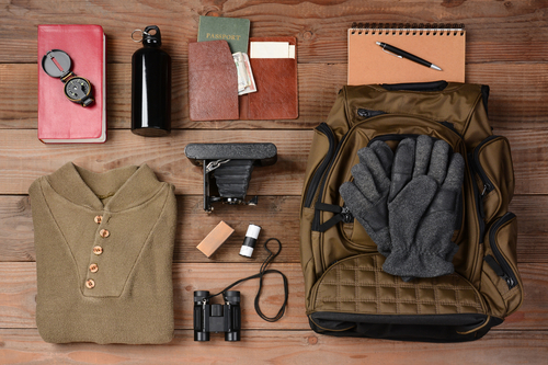 Backpack + hiking gear