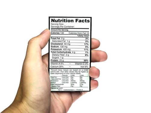 Calorie + nutrition label