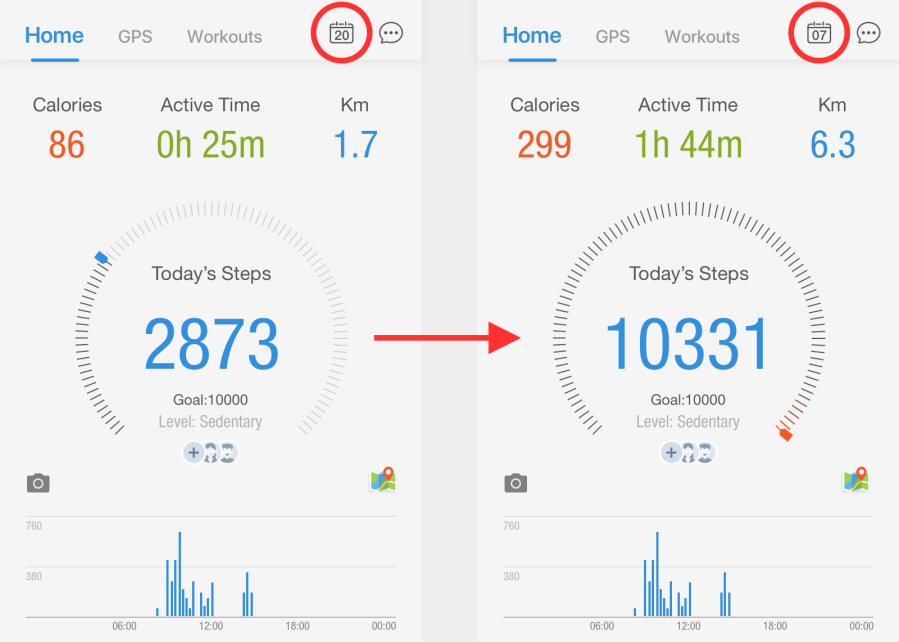 "How to ""Look Back"" at a Previous Day's Steps: A Pacer Guide for iOS & Android"