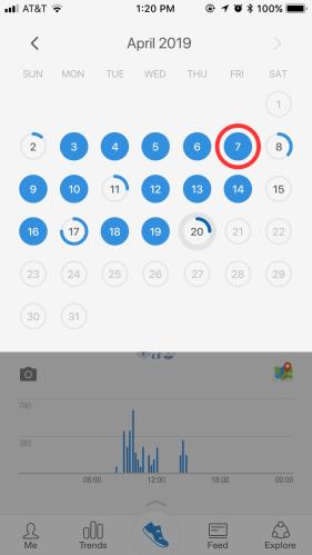 Pacer calendar select date interface