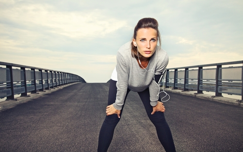 Motivated woman ready for exercise