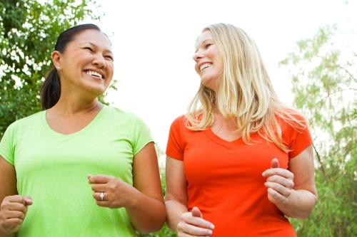 Women walking for weight loss