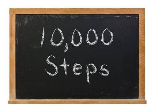 10k steps blackboard concept
