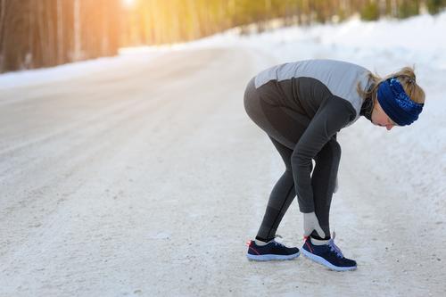winter walker with achilles heel pain