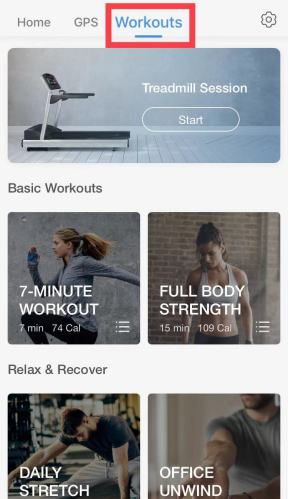 iOS Pacer app interface - workouts
