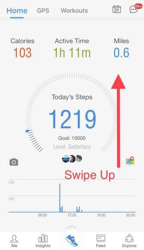 Pacer iOS main interface log health data