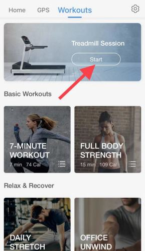 iOS pacer workouts interface treadmill mode
