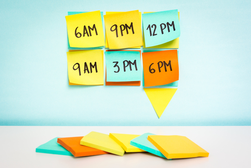Make time in your schedule concept