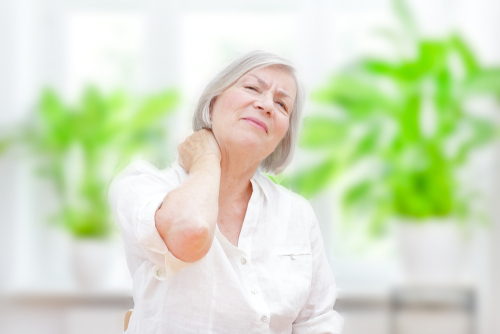 Older woman with neck pain