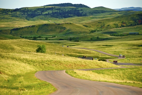 Hilly terrain in the country