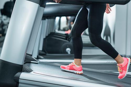 Treadmill on incline setting