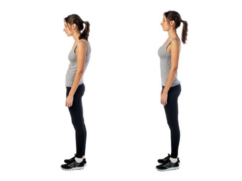 woman demonstrating proper posture