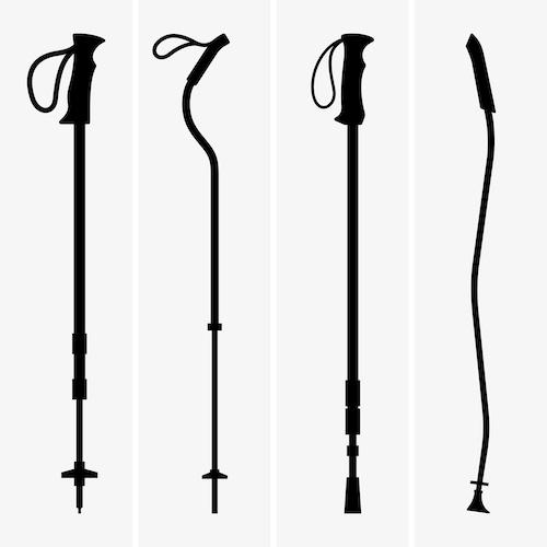 walking or trekking poles