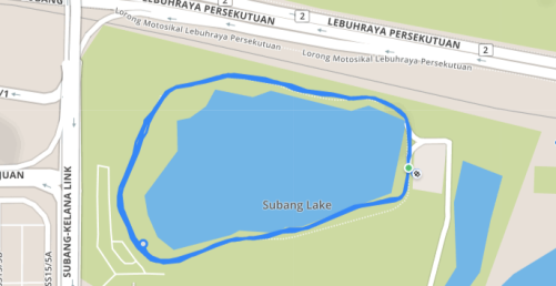 Subang Ria Park Malaysia Pacer Route and Map