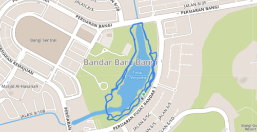 Sama Jaya Nature Reserve Malaysia Pacer Map