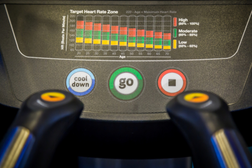 Treadmill heart rate zones