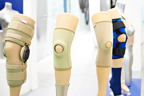 Knee braces on display