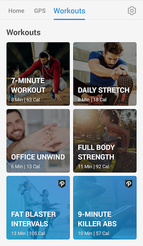Pacer's new workouts - full body workouts