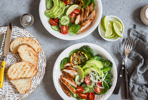 Healthy dinner salad