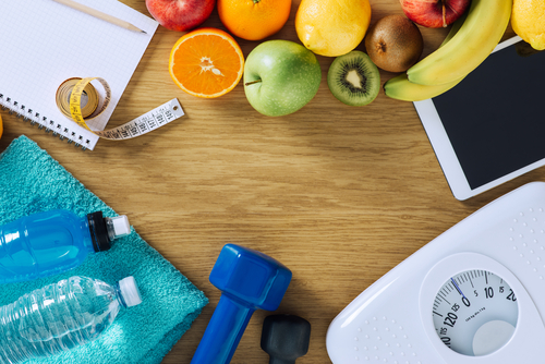 Weight loss methods concept