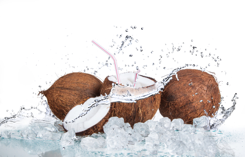 Coconuts and coconut water concept