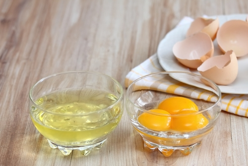 Egg whites and yolks separated
