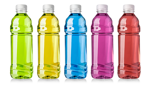 Sports drinks in different colors